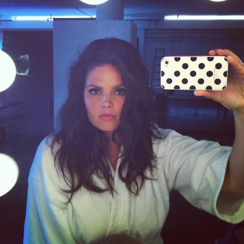 Candice Huffine selfie matin réveil