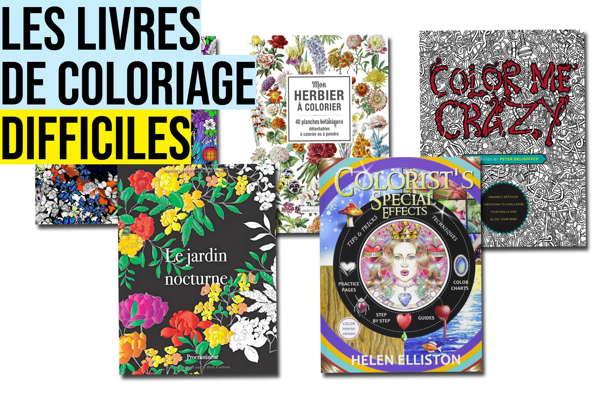 livre coloriage adulte difficile sélection